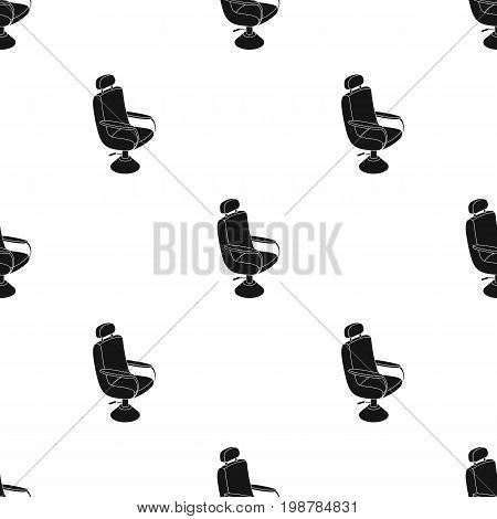 Armchair.Barbershop single icon in black style vector symbol stock illustration .