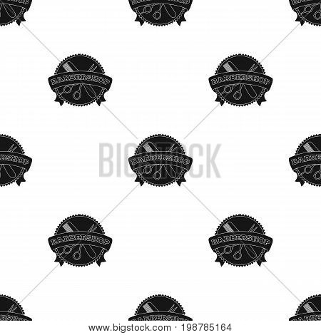 Barber's sign.Barbershop single icon in black style vector symbol stock illustration .