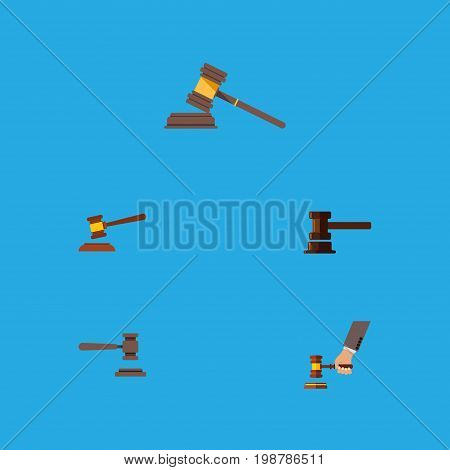 Flat Icon Lawyer Set Of Crime, Legal, Court And Other Vector Objects