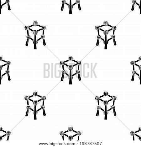 Monument to the atom in Belgium.The dark Belgian wolf. Belgium single icon in black style vector symbol stock web illustration.