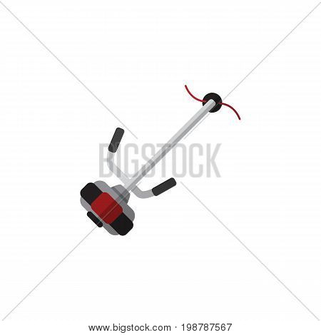 Grass-Cutter Vector Element Can Be Used For Lawn, Mower, Cutter Design Concept.  Isolated Lawn Mower Flat Icon.