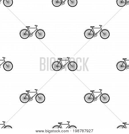 bicycle icon in black design isolated on white background. Bio and ecology symbol stock vector illustration.