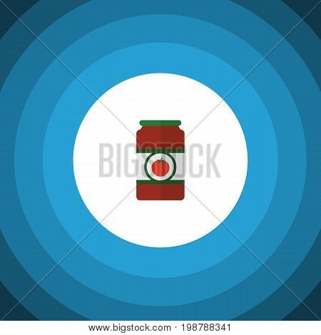 Ketchup Vector Element Can Be Used For Tomato, Sauce, Ketchup Design Concept.  Isolated Tomato Sauce Flat Icon.