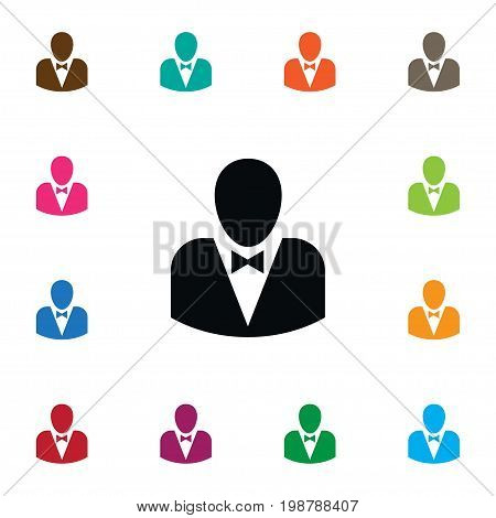 Leader Vector Element Can Be Used For Leader, Male, Politician Design Concept.  Isolated Politician Icon.