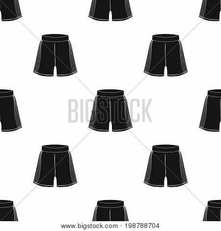 Boxing shorts icon in black style isolated on white background. Boxing symbol vector illustration.