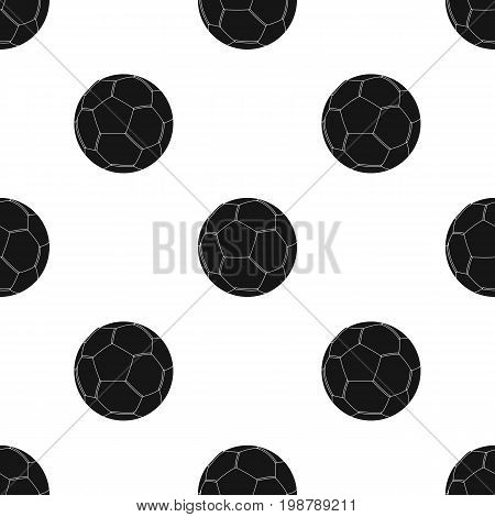 soccer ball icon in black design isolated on white background. Brazil country symbol stock vector illustration.