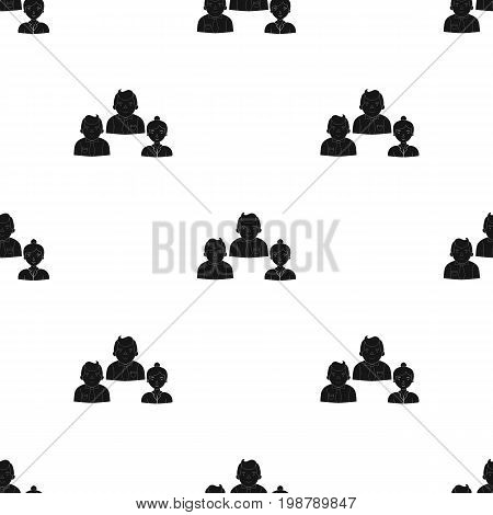 Business partners icon in black design isolated on white background. Conference and negetiations symbol stock vector illustration.