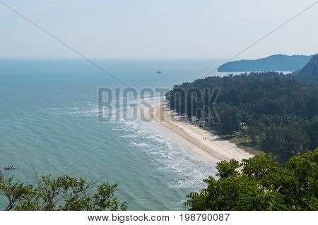 Tropical White Sand Beach In Khao Sam Roi Yot National Park, Thailand