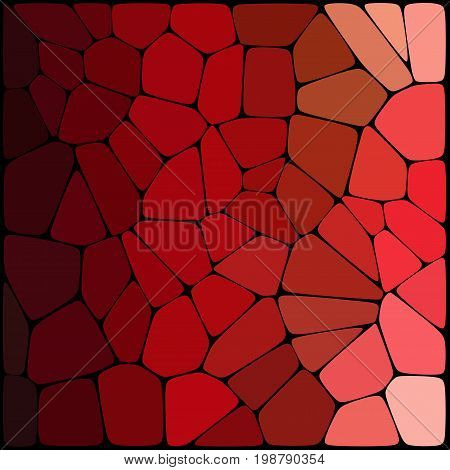 Abstract Mosaic Pattern Consisting Of Red Geometric Elements Of Different Sizes And Colors. Vector I