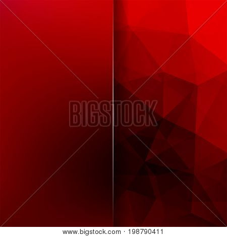 Polygonal Red Vector Background. Blur Background. Can Be Used In Cover Design, Book Design, Website