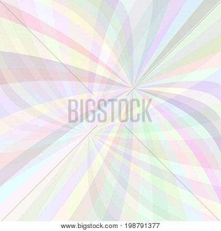 Abstract curved ray burst background - vector illustration from light colored curved rays