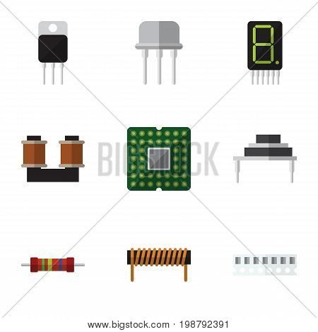 Flat Icon Appliance Set Of Destination, Memory, Receiver And Other Vector Objects