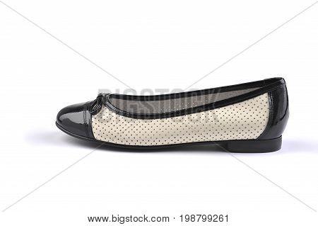 Classic women shoe isolated on white background