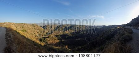 panoramic view from one ravine in spain
