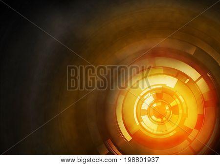 Orange Abstract Target