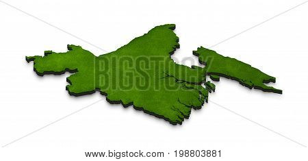 Map Of Bangladesh. 3D Isometric Perspective Illustration.
