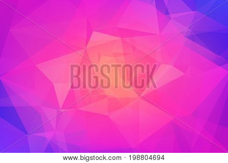 Gradient abstract horizontal triangle background. Vibrant rainbow multicolored polygonal backdrop for business presentation. Positive bright gradient color transition for application and web.