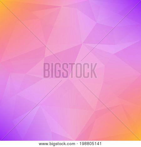 Gradient abstract square triangle background. Tender smooth polygonal backdrop for business presentation. Soft gradient color transition for mobile application and web. Geometric colorful banner.