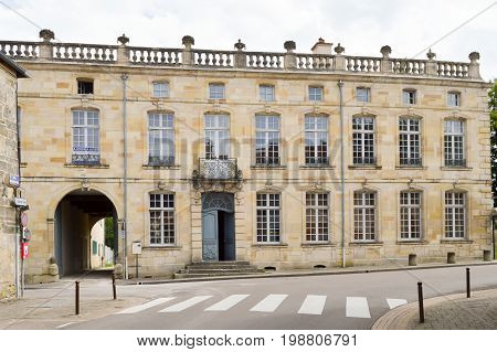 Historical monument dating from the year one thousand seven hundred and six in the city of Bar le Duc in the department of the Meuse in France