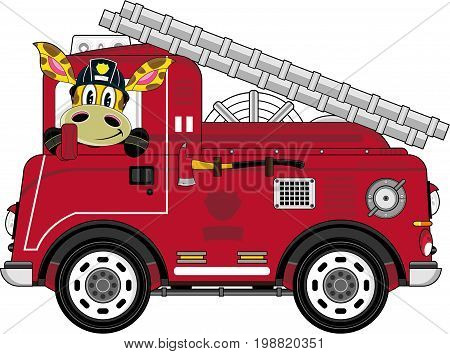 Fireman Giraffe & Engine.eps