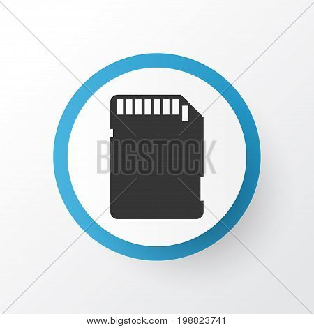 Premium Quality Isolated Memory Card Element In Trendy Style.  Sd Card Icon Symbol.