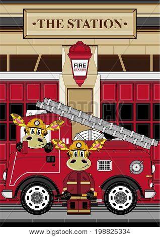 Giraffe Fireman Scene 1
