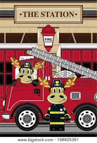 Giraffe Fireman Scene 3