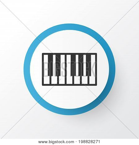 Premium Quality Isolated Piano Element In Trendy Style.  Synthesizer Icon Symbol.