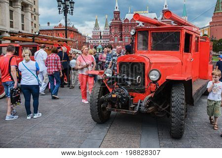 International Festival- Fire Truck At The Manege Square