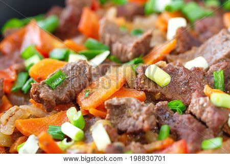 Fried Meat And Vegetable