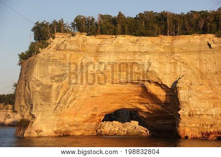 Grand Portal.  A rock formation in Pictured Rocks National Lakeshore, Upper Peninsula of Michigan.