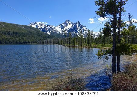 Mt. McGowan and Stanley Lake in Idaho's Sawtooth Mountains.