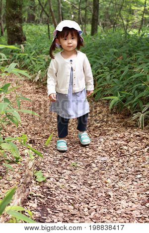 Japanese Girl On A Hike (2 Years Old)