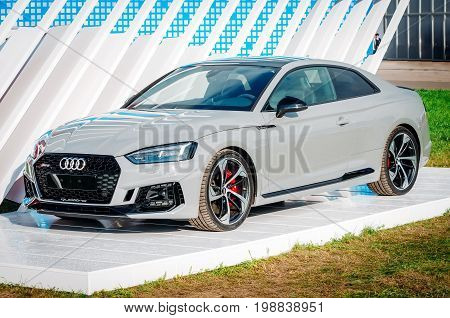Car Audi Rs-5. Russia, Moscow. July 2017