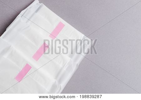 Menstruation Sanitary Pad For Woman Hygiene Protection. Critical Days. Medical Conception