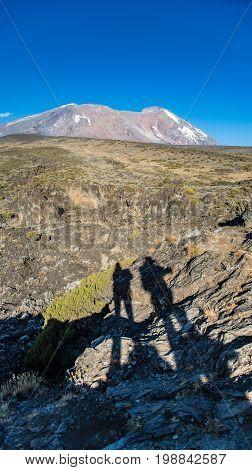 Uhuru Peak view from Kilimanjaro Machame route trail Tanzania