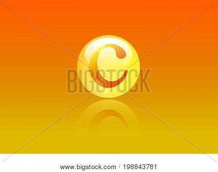 Vitamin C Icon. Ascorbic acid pill capsule