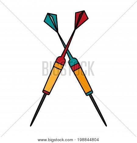dartboard darts icon image vector illustration design