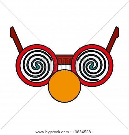 crazy glasses with round nose funny or joke item icon image vector illustration design
