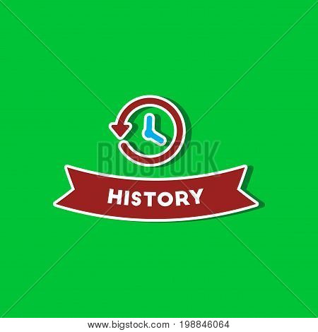 paper sticker on stylish background of history lesson