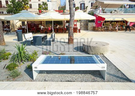Bench With Solar Panel