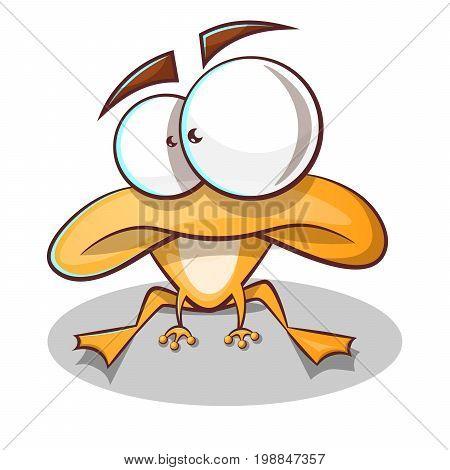 Cute, funny frog cartoon Vector eps 10