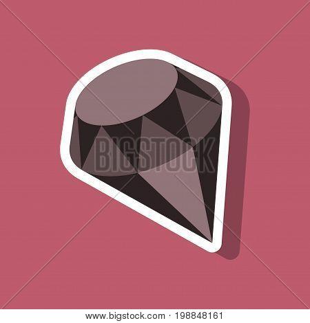 paper sticker on stylish background diamond jewelery