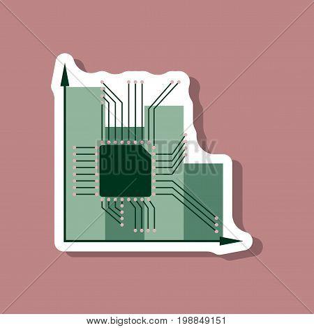 paper sticker on stylish background Nanotechnology infographics