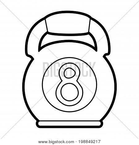kettlebell weights icon image vector illustration paint