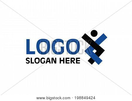 Vector - People Unity Logo, Isolated On White Background. Vector Illustration.