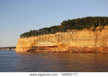 Indian Head rock formation.  Pictured Rocks National Lakeshore, Upper Peninsula of Michigan