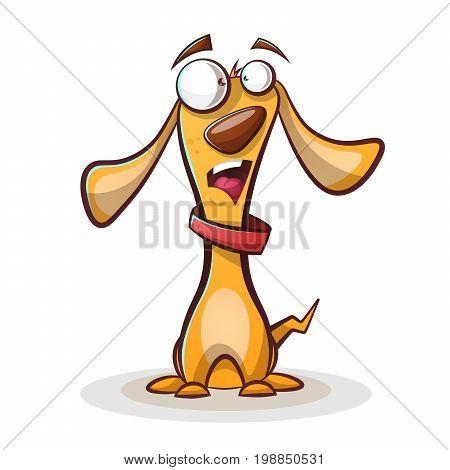 Funny, cute dog cartoon Vector eps 10