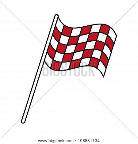 final lap flags icon image vector illustration design