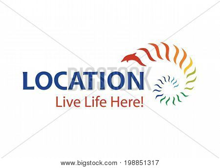 Vector - City Or Town Promotion Logo, Isolated On White Background. Vector Illustration.
